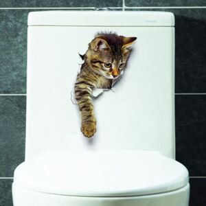 Sticker decorativ Here I Am Kitten looking down 25