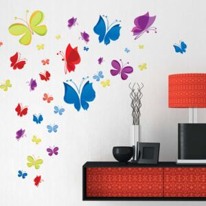 Sticker perete Colourful Butterflies