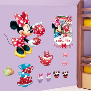 Sticker perete Minnie Tea Party