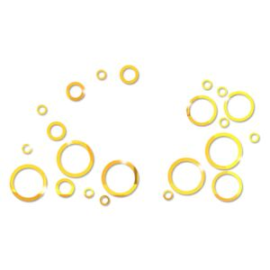 Sticker perete 3D Mirror Gold Circles