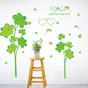Sticker perete Clover Leaves