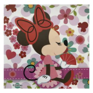 Sticker intrerupator Minnie cu evantai 9x9 cm