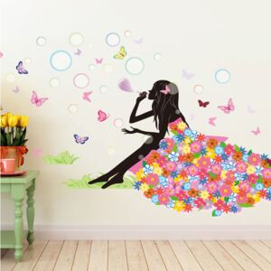 Sticker perete Flower Lady
