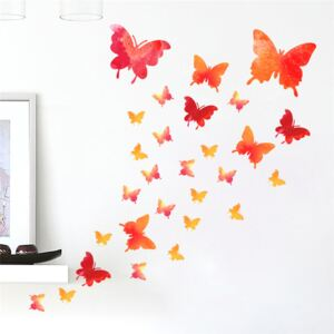 Sticker perete Red Butterflies