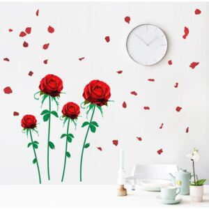 Sticker perete Flying Roses