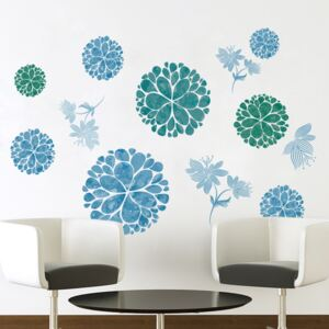 Sticker perete Blue Flowers