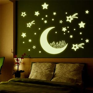 Sticker perete Glow in the Dark Moon