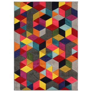 Covor Modern & Geometric Dynamic, Multicolor, 80x150