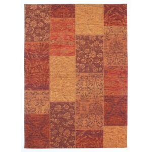 Covor Modern & Geometric Patchwork Chenille, Acril, Terra, 155x230