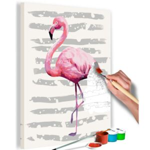 Bimago Pictura pe numere - Beautiful Flamingo