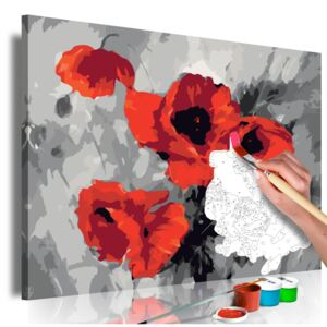 Bimago Pictura pe numere - Bouquet of Poppies