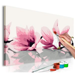 Bimago Pictura pe numere - Magnolia (White Background)