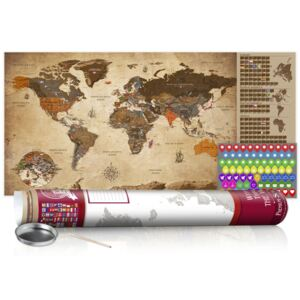 Harta razuibila - Vintage Map - Poster (English Edition) 100x50 cm