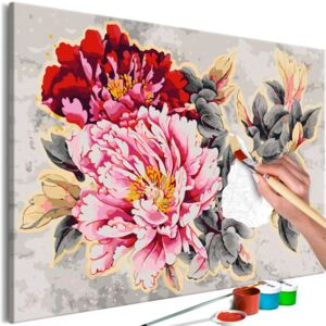 Pictura pe numere - Beautiful Peonies 120x80 cm