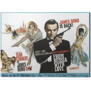 Tablou Canvas James Bond - From Russia With Love - Painting, (60 x 80 cm)
