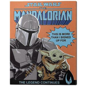 Tablou Canvas Star Wars: The Mandalorian - This Is More Than I Signed Up For, (40 x 50 cm)