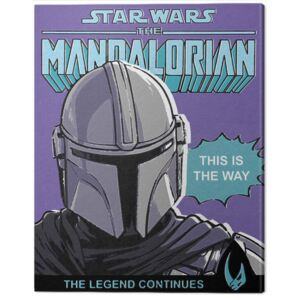 Tablou Canvas Star Wars: The Mandalorian - This Is The Way, (40 x 50 cm)