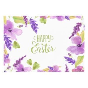 Set 2 suporturi pentru farfurie Apolena Happy Easter Flowers, 33 x 45 cm