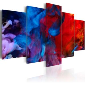 Tablou Bimago - Dance of Colourful Flames 100x50 cm