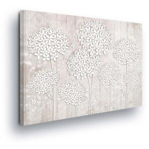 GLIX Tablou - White-leaved Flowers on White Background 60x40 cm
