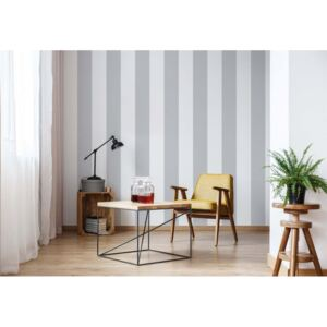 Fototapet GLIX - Grey And White Stripes + adeziv GRATUIT Tapet nețesute - 416x254 cm