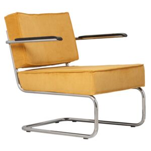Fotoliu galben Lounge Chair Ridge Rib Arm Yellow 24A