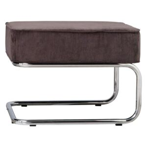 Taburet cromat gri inchis Hocker Ridge Rib Grey 6A