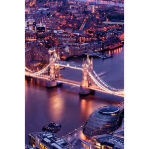 Fotografii artistice View of City of London with the Tower Bridge at Night, Philippe Hugonnard