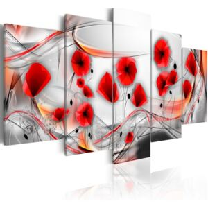 Tablou Bimago - Spinning poppies 100x50 cm