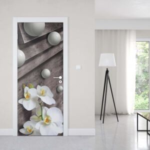 GLIX Tapet netesute pe usă - Adult Mural Wallpaper Modern Modern Flowers, Nature, and Swirls