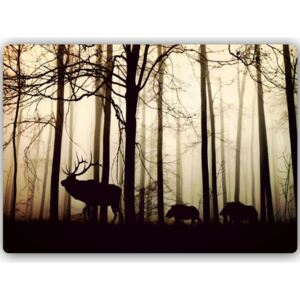 CARO Tablou metalic - Animals In The Forest 30x20 cm