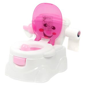 Olita educationala 3 in 1 Little Mom Smiley Potty Pink