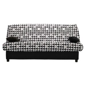 Canapea Click Clack The Sofa Triangle Black Petite, 183/82/88 cm