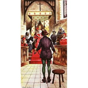 Joan of Arc being tried by a church court Reproducere, Peter Jackson