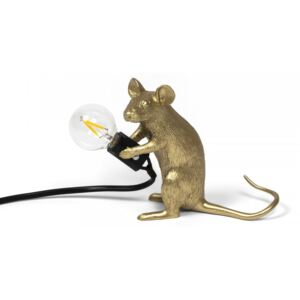Lampa aurie 5×15 cm Mouse Gold Mac Seletti