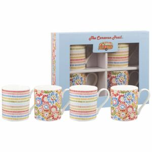 Set 4 căni din porțelan Churchill China Caravan, 250 ml