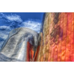 Fotografii artistice Gehry architecture Seattle Washington USA, Randall Osterhuber