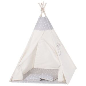 Cort copii stil indian Teepee Grey Stars XXL
