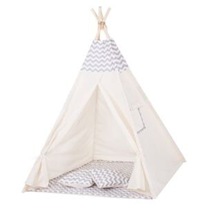 Cort copii stil indian Teepee ZigZag Grey XXL