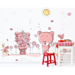 Sticker perete Pink Bears