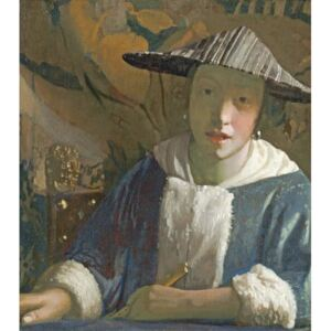 Young Girl with a Flute, c.1665-70 Reproducere, Jan (1632-75) Vermeer