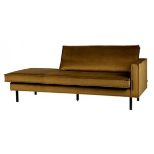 Pat de zi galben mustar din catifea 203 cm Rodeo Daybed Right Be Pure Home
