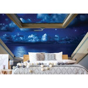 GLIX Fototapet - Dreamy Night Sky 3D Skylight Window View Papírová tapeta - 368x280 cm