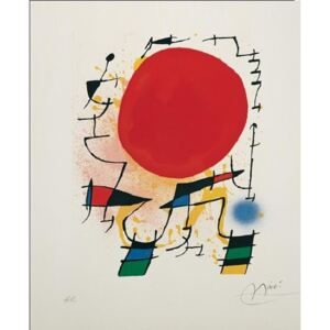 The Red Sun Reproducere, Joan Miró, (60 x 80 cm)