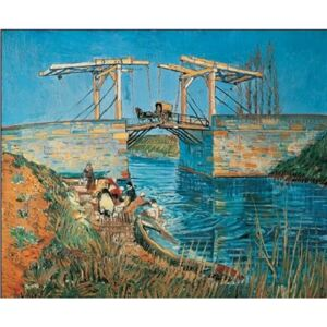 The Langlois Bridge at Arles with a Washerwoman, 1888 Reproducere, Vincent van Gogh, (80 x 60 cm)