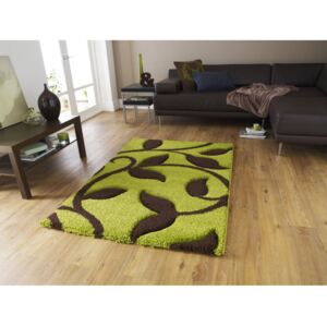 Covor Think Rugs Fashion, 120 x 170 cm, verde - maro