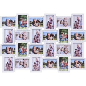 Rama foto clasica, Home Styling Collection, 24 poze, Alb