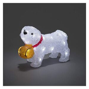 LED Decorațiune Crăciun exterior DOG 32xLED/4xAA IP44