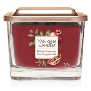 Yankee Candle lumânare parfumată Elevation Holiday Pomegranate pătrata mijlocie 3 fitile