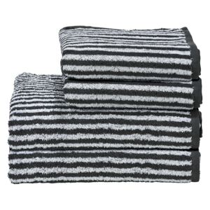 Set de 4 prosoape Day Stripes II, alb/antracit